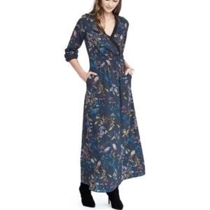 NWOT Banana Republic Long Sleeve Floral Maxi Dress